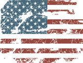 Ročník americká vlajka — Stock vektor