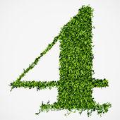 Numéro texture d'herbe. illustration vectorielle — Vecteur
