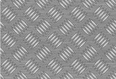 Seamless steel diamond plate vector — Stock Vector