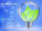 Concept of clean, green energy — Stock Vector