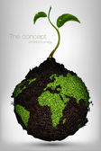 地球上のクリーン エネルギーの概念 — ストックベクタ
