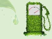 这个星球上的清洁能源的概念 — 图库矢量图片