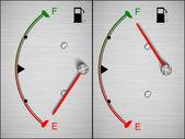 Vector Car Fuel Icon — Stock Vector