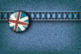Ikona s britskou vlajkou na — Stock vektor