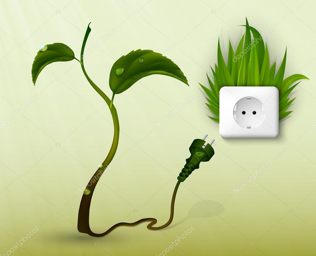 清洁能源的概念— 矢量图片作者