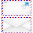 Envelope with postal stamp — Stock Vector