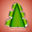 Christmas tree made of torn paper — Stock Vector