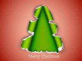撕纸做的圣诞树 — 图库矢量图片