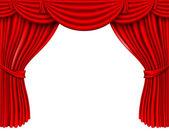 Red silk curtains — Vector de stock