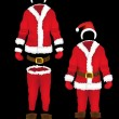 Christmas santa claus clothes — Stock Vector