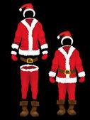Christmas santa claus clothes — Stock Vector