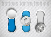 Set of vector buttons switch — Stock Vector