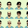 Vector set. hair, mustache, beard — Imagen vectorial