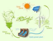 Eco energy. Vector illustration — Stock Vector