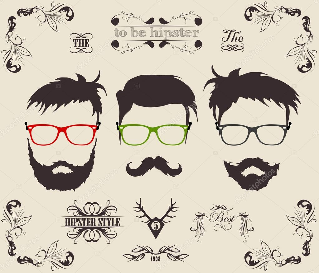 mustache  beard   Vect...