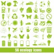 56 Ecology and recycle icons — Stock Vector
