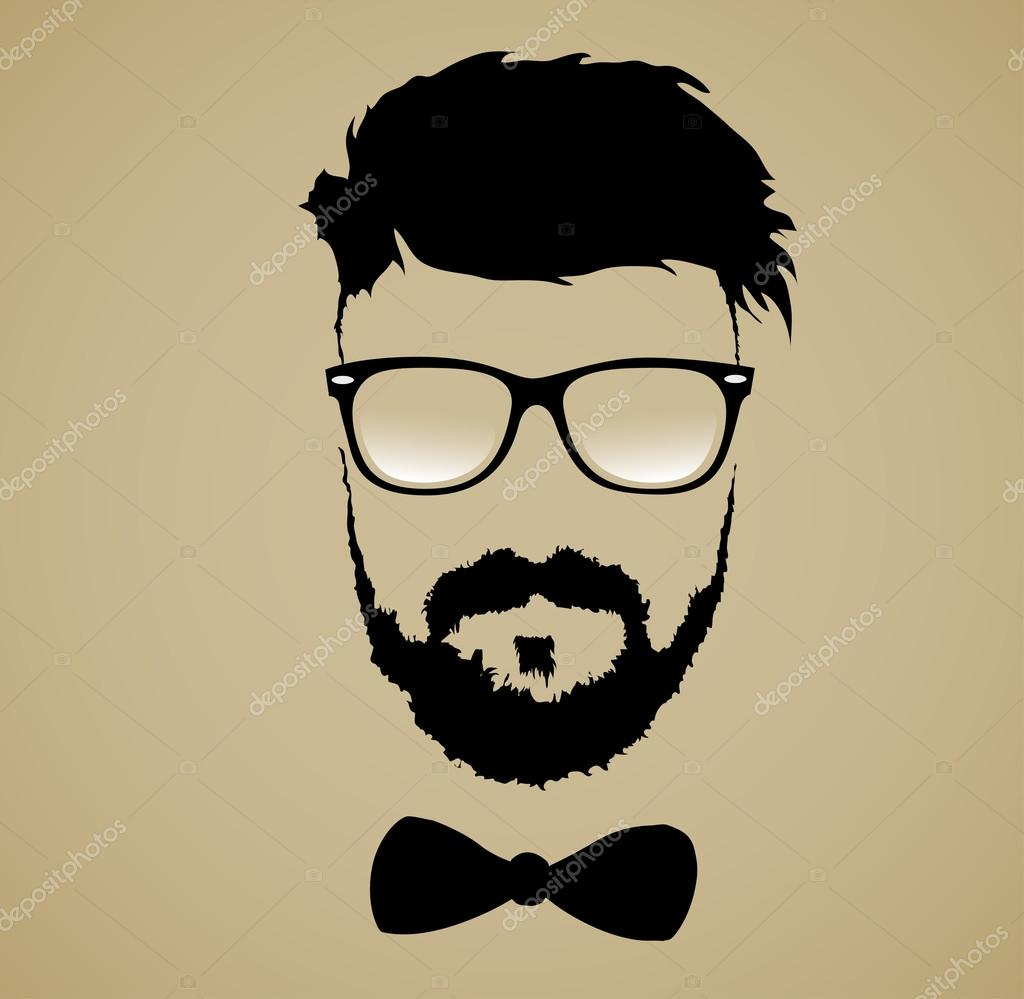 Fashion Silhouette Hipster Style Stock Vector