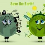 Conserve the earth. environmental pollution — Stock Vector #38404195