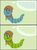 Sick caterpillar. disease — Stock Vector