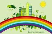 Environmental conservation cities. — Stock Vector