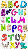 Vibrant Colorful Alphabet — Stock Vector