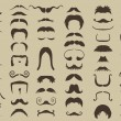 Set of mustache — Stock Vector #40871175