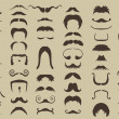 Stock Vector: Set of mustache