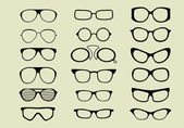 Set of different glasses — Stock Vector