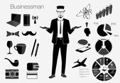 Businessman style elements — Stock Vector