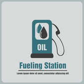 Fueling station — Stock Vector