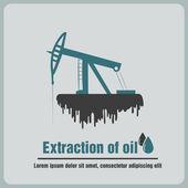 Utvinning av olja — Stockvektor