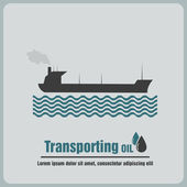Transporting oil — Stock Vector