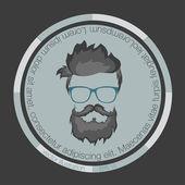 Icono de hipster — Vector de stock