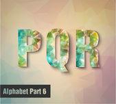 P Q R Alphabet letters — Stock Vector