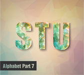 S T U Alphabet letters — Stock Vector