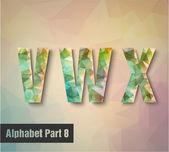 V w x letras del alfabeto — Vector de stock