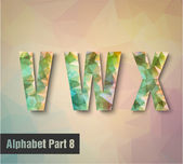 V w 字母 x — 图库矢量图片