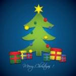 textilní vánoční přání — Stock vektor