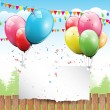 Colorful Birthday background — Vector de stock #12004970