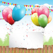 Vector de stock : Colorful Birthday background