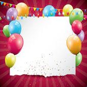 Arrière-plan coloré anniversaire — Vecteur