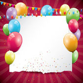 Kleurrijke verjaardag achtergrond — Stockvector