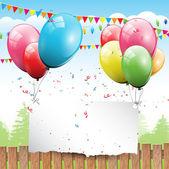 πολύχρωμο γενέθλια φόντο — Διανυσματικό Αρχείο