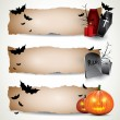 Halloween horizontal banners — Stock Vector #12105753