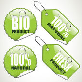 Bio stickers and tags — Stock Vector