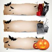 Halloween horizontal banners — Stock Vector