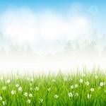 весенний пейзаж — Cтоковый вектор #19612727