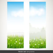 Våren vertikala banderoller — Stockvektor