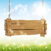 Vector fondo de primavera — Vector de stock