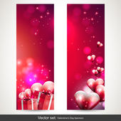 Valentine banners — Stock Vector